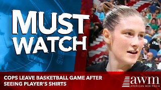 Cops Leave Basketball Game After Seeing Player's Shirts
