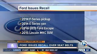 Ford issues recall - Video