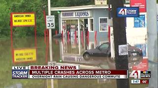 Heavy, fast rain causes flash flooding in Indepence