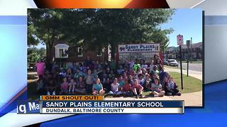 A legendary loud good morning from Sandy Plains Elementary School - Video