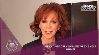 Reba McEntire Wins Grand Ole Opry Moment of the Year | Rare Country Awards - Video