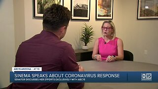 Sinema speaks out about coronavirus response