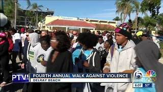 Walk Against Violence held in Delray Beach - Video