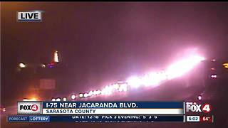 Serious crash closes northbound lanes of I-75 in Venice - Video