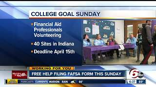 College Goal Sunday helps thousands of Indiana families - Video