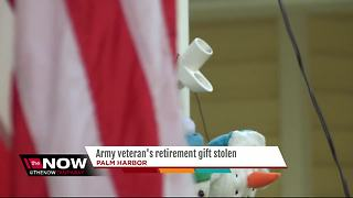 Sentimental Army flag stolen from porch of 14-year Veteran - Video