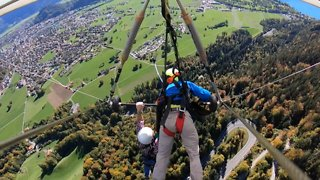 Man Hang Gliding For Dear Life Without Secure Harness