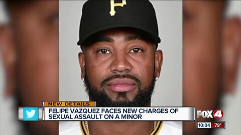 New charges for MLB player Felipe Vazquez