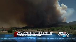 Goodwin Fire and Frye Fire Update 6/28 - Video