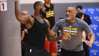 LeBron James Tries to Start Pickup Game with Fans - Video