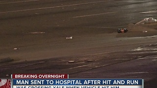 Man in hospital after hit and run near 47th St. - Video