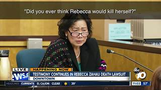 Testimony underway in Zahau death suit - Video