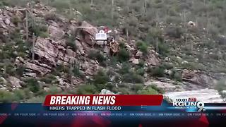 BREAKING: Massive effort underway to rescue hikers trapped by flash flood at Tanque Verde Falls - Video