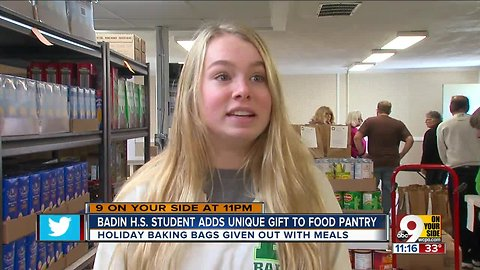 Badin HS student adds unique gift to food pantry