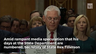 Tillerson Responds to Reports About His Future at the White House - Video
