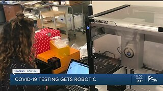 OU researchers helped by robots in COVID-19 testing