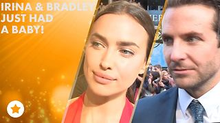 Irina & Bradley are tight-lipped about their baby - Video