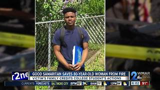 Good Samaritan saves 80-year-old woman from fire - Video