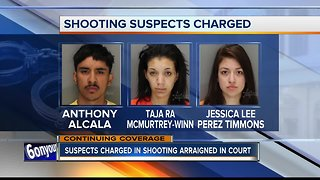 Three suspects charged in deadly Boise shooting, Meridian standoff arraigned in court