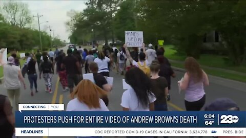 Protestors push for entire video of Andrew Brown's death