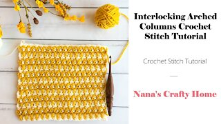 Interlocking Arched Columns Crochet Stitch Tutorial