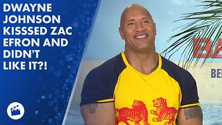 Dwayne Johnson says Zac Efron tastes like bull's balls! - Video