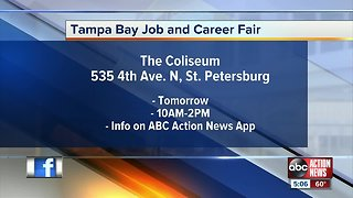 Dozens of companies participating in the Tampa Bay Job and Career Fair in St. Petersburg on Tuesday