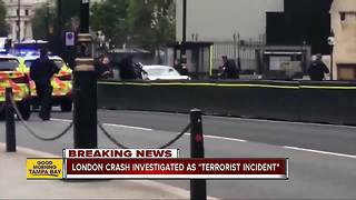 London crash to be treated as terrorist incident - Video