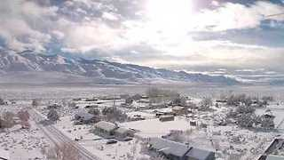 Sunny Snow Day in Chalfant Valley - Video