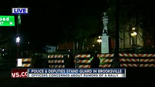 Rumored rally at Confederate statue sparks police presence - Video