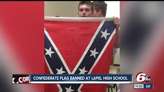 Confederate flag banned at Lapel High School, causes chaos between student groups - Video