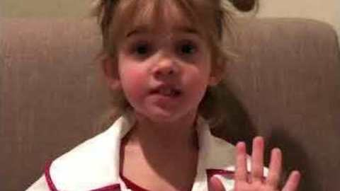 Adorable Toddler Gives Her Opinion on Valentines Day