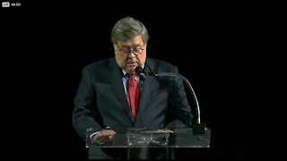U.S. Attorney General William Barr speaks at Det. Skernivitz's funeral