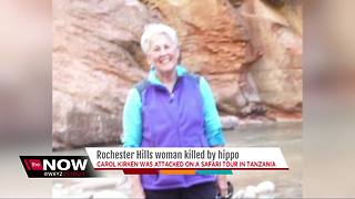 Rochester Hills woman killed by hippo - Video