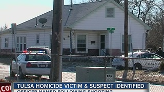 West Tulsa officer involved shooting names released; homicide suspect dentfied - Video