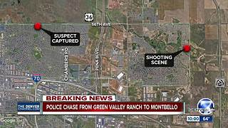 Police chase from Green Valley Ranch to Montbello - Video