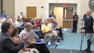 Strong emotions at Congressman Brian Mast town hall meeting in Jupiter - Video