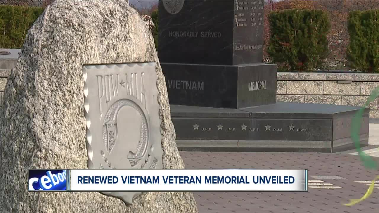 Renewed Vietnam Veteran Memorial unveiled