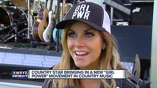 Country star bringing in new 'girl power' movement in country music - Video