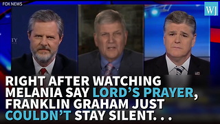 Right After Watching Melania Say Lord's Prayer Franklin Graham JustCouldn't Stay Silent… - Video