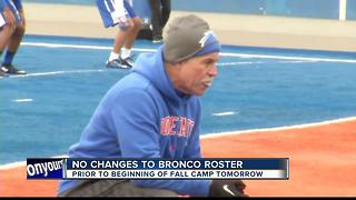 Broncos get set for first fall practice tomorrow - Video