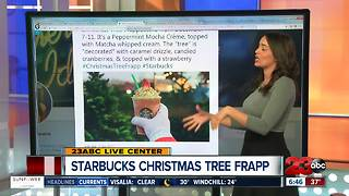 NEW: Starbucks releases Christmas Tree Frappuccino - Video