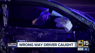 Wrong-way driver caught in Tempe overnight - Video