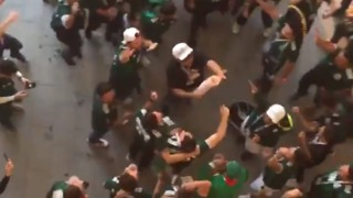 Jubilant Mexican Fans Celebrate Historic World Cup Win Over Germany - Video