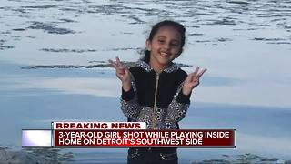 3-year-old girl shot in southwest Detroit, taken to Children's Hospital - Video