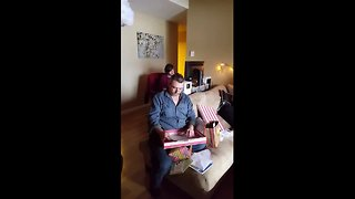 Man receives emotional birthday surprise from stepchildren