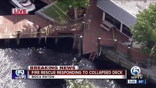 Fire rescue responding to collapsed deck - Video