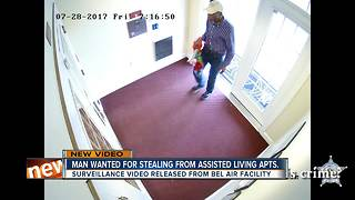 Police search for nursing home burglar - Video