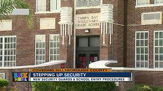 New security guards and school entry procedures - Video