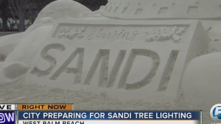 City preparing for Sandi tree lighting - Video